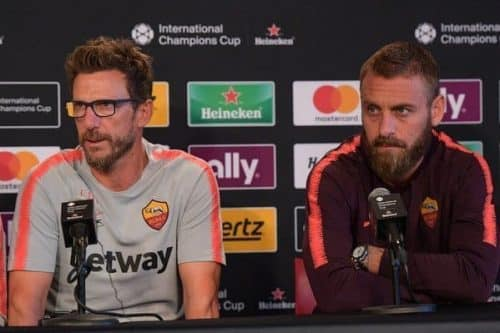 Roma Porto. in conferenza Di Francesco e De Rossi.