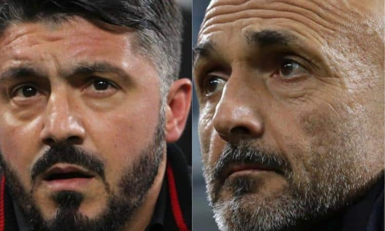 Derby Gattuso Spalletti. L'Inter spaccata in due per ...